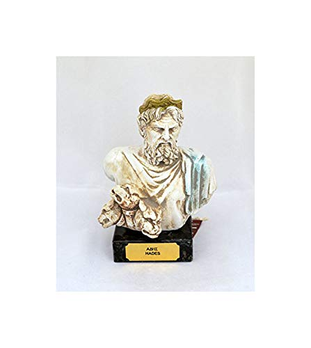 Estia Creations Hades Antike Griechische Gott King of The Underworld Skulptur Statue Brustumfang
