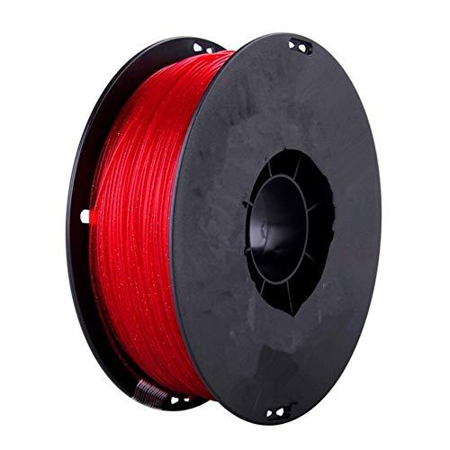 Auartmetion 1pc PLA Crystal 3D DIY Printer Filament Sparkle 1.75mm 500g Shining 3D Printing Material Glittering PLA Glistening Plastic Filaments (Color : Red)