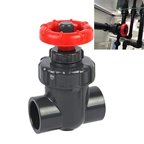 WGD FA 1pcs 20/25/32/40/50 / 63mm UPVC Absperrschieber, PVC-Membranventil Geradsitzventil, Precision Flow Adjustment Kunststoff Feinabstimmung Ventil, Gartenbewässerung