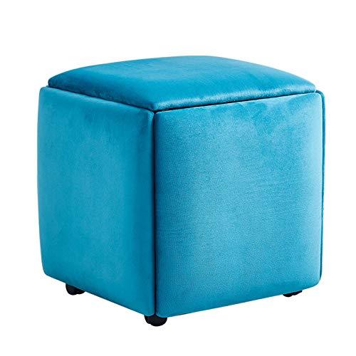 Taburete de Silla de Sofá Apilable Taburete Impermeable Creativo 5 en 1 Cubo de Asiento,para Sala de Estar,Dormitorio,Fuerte Capacidad de Carga,Large