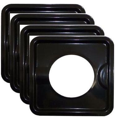BLACK STEEL HEAVY DUTY SQUARE REUSABLE DRIP PAN GAS BURNER BIB LINER COVERS BN24