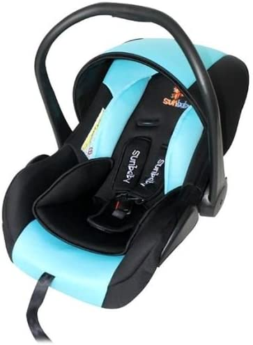 Sunbaby Carrycot Cum Carseat (Blue/Black)