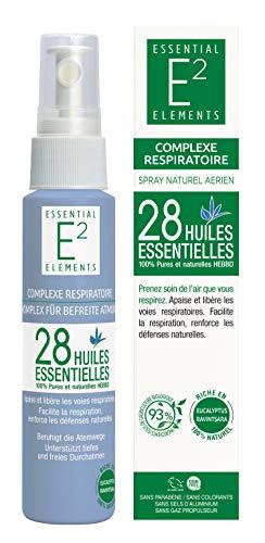 E2 Complexe Respiratoire - Spray aérien naturel aux 28 huiles essentielles 3 en 1 Pulvérisation - Inhalation humide - Dans un mouchoir\
