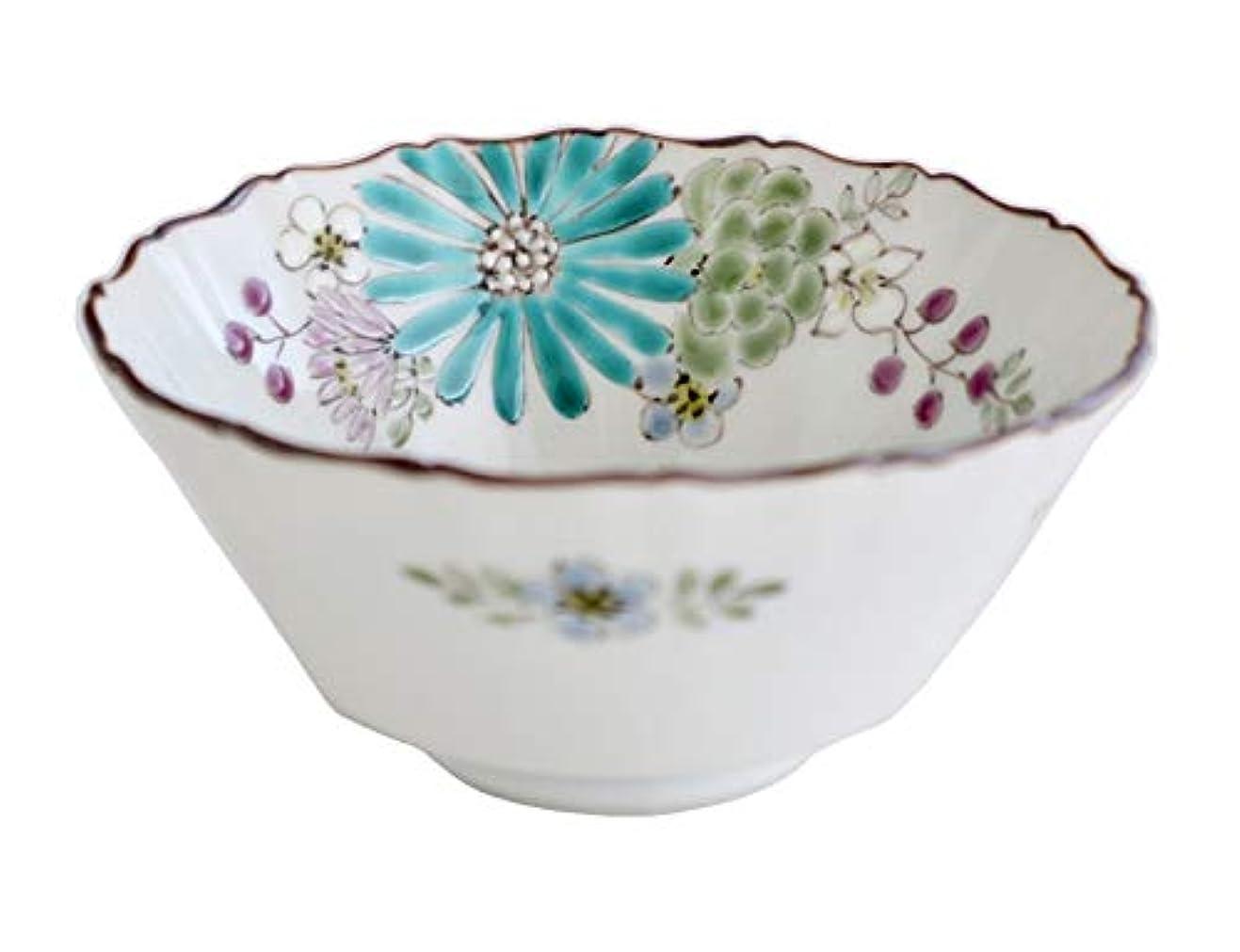 センチメートルほとんどの場合オーブン色絵九谷 遊 小鉢 緑 11X11X5cm 華 小鉢