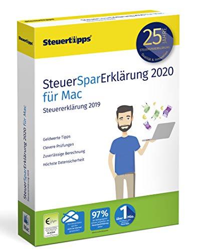 SteuerSparErklärung 2020, Schritt-für-Schritt Steuersoftware für die Steuererklärung 2019, Steuer CD-Rom für Mac: OS X (ab 10.12 Sierra)