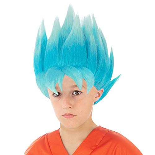 CoolChange Dragon Ball Kinder Perücke, Variante: Super-Saiyajin Blau (Blau)