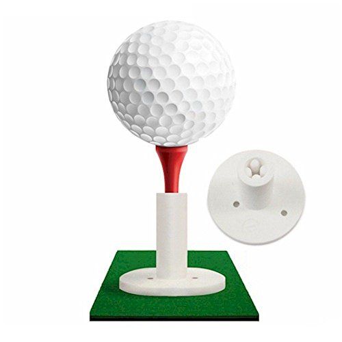 Rubber Golf Tee Holder for Practice & Driving Range Mats (Available in Two Sizes) (1.5')