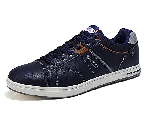 ARRIGO BELLO Zapatos Hombre Vestir Casual Deportivas Zapatillas Sneakers Caminar Correr Deportivas Gimnasio Moda cómodo Viajar Talla 41-46 (Azul, Numeric_42)