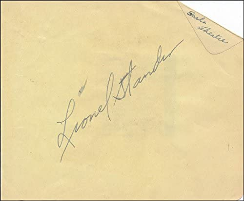 Lionel Stander - Tampa Recommended Mall Signature