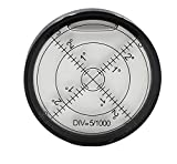Chiloskit Aluminium Case Bullseye Spirit Bubble Surface Level Rv Leveling Bubble Round Inclinometers for Surveying Instruments and Tribrachs, Ø60mm,Accuracy 15'/2