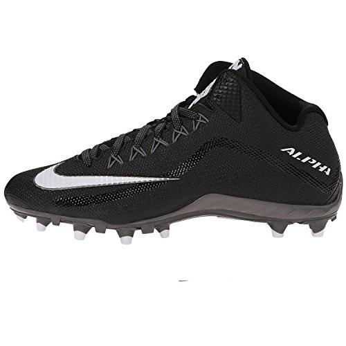Nike Football Shoes Alpha Pro 2 TD Black/White-Mtlc-Dark Grey Size 10