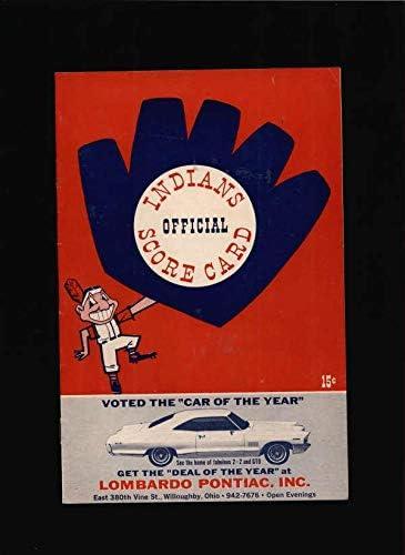 1965 Indians Vs Ny Direct sale of manufacturer Yankees Official Prog MLB Lot1474 Scorecard Great interest -