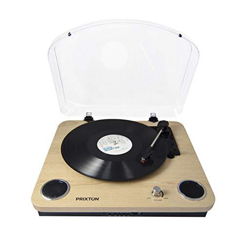 PRIXTON Marconi - Tocadiscos de Vinilo Vintage, Reproductor de Vinilo y Reproductor...