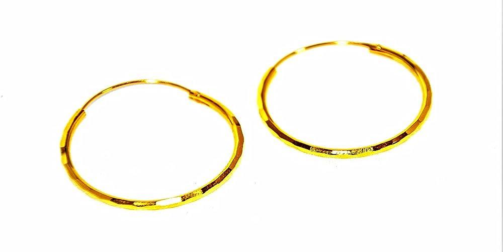 14kGP Yellow Hoop Earrings