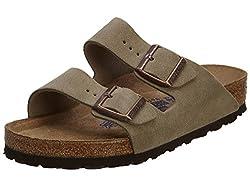 powerful Birkenstock Unisex Arizona Top Suede Sandals, Soft Sole – 39 M EU / 8-8.5 B (M) US