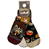 Primark Limited - Pack 3 Calcetines de Harry Potter con Licencia Oficial - para Mujer UK 4-8 EUR 37-42