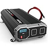 Energizer 1500 Watts Power Inverter 12V to 110V, Modified Sine Wave Car Inverter, DC to AC Converter with Dual 110 Volts AC Outlets and 2 USB Ports 2.4A ea - METLab Approved Under UL Std 458
