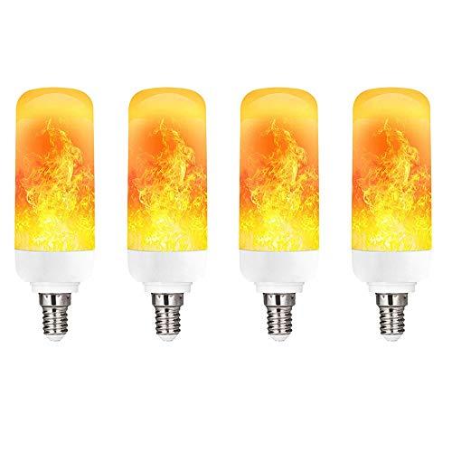 Suncol LED-Flammenlampe, plastik, e14, 4 Packs, E14