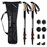 Trekking Poles Collapsible Adjustable 2pc/Set Aluminum Telescopic Hiking Poles Walking Sticks with Quick