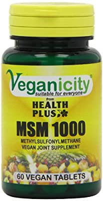 Veganicity MSM 1000mg Joint Health Supplement - 60 Tablets