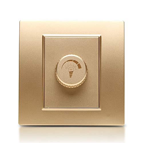 Foicags Cambiar placas 86 Champagne oculto Knob de oro Interruptor de atenuación incrustado a prueba de polvo y durable PC Interruptor de interruptor Lámpara de luz Lámpara de pared Controlador de int