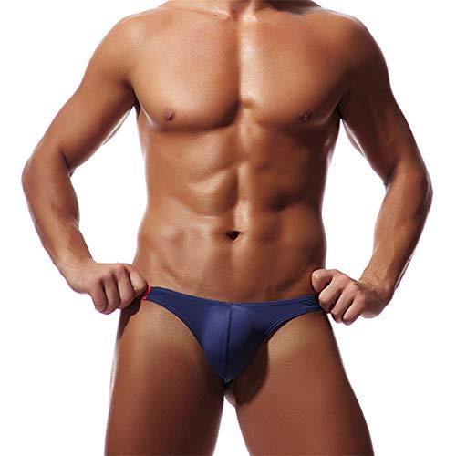 Tanga Mini für Herren/Skxinn String Slip Dessous Lingerie Thong Underwear Sexy Soft Bikini Underpants Bademode Unterwäsche Unterhosen Höschen für Männer L-2XL Reduzier(Dunkelblau,X-Large)