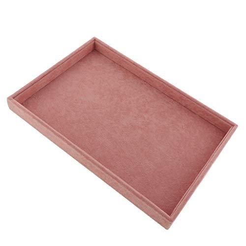 Fenteer 1 Stück Samt Schmuckschatulle für Aufbewahrung & Organizer von Ohrringen, Ringen - 35x24x3 cm - 1