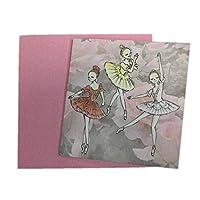 【 itscorbeille ballet】 かわいい ミニメッセージカード バレエ ギフト 誕生日 (KIMS1006)