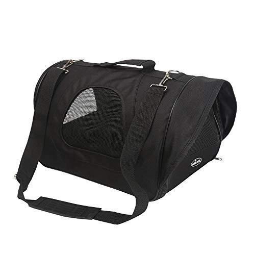 Nobleza - Bolso Transportín de Viaje Plegable para Perros y Gatos, Tela Oxford, Color Negro, Talla M, (40 * 23 * 24) cm