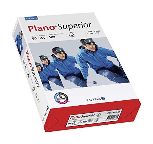 Papyrus 88026780 Druckerpapier Planosuperior 90g/m²: DIN-A4, 500 Blatt, hochweiß / Nachfolger – tecno Superior