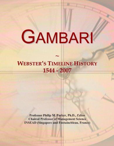 Gambari: Webster's Timeline History, 1544 - 2007