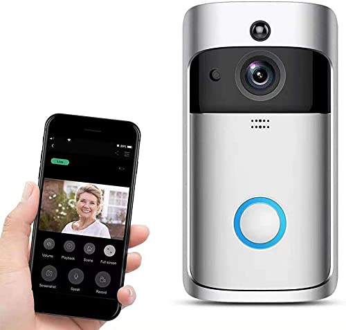 Video Motion Detector Doorbell Camera HD WiFi Doorbell Wireless Operated Audio&Speaker Night Vision for iOS&Android