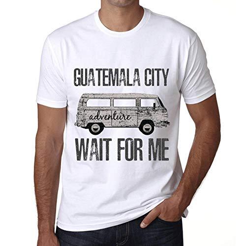 Hombre Camiseta Vintage T-Shirt Gráfico Guatemala City Wait For Me Blanco