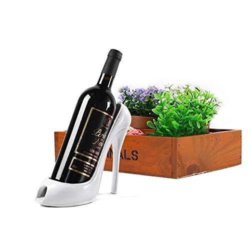 Botellero de Vino Estante de vino, zapato de tacón alto Soporte de botella de vino con estilo Rack de vino Regalo Canasta Accesorios para la cocina, comedor, bar, hogar para organizar y almacenar bote