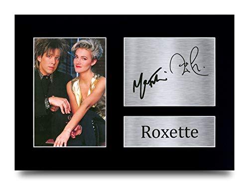 HWC Trading A4 Roxette Per Gessle Marie Fredriksson Per Gessle Marie Fredriksson, gedrucktes Autogramm für Fans von Musik-Erinnerungsstücken – A4