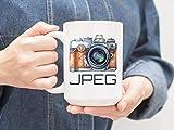 N\A Tasse de Photographie JPEG Mug Je Tire JPEG photographes Cadeau DSLR Pro Appareil Photo Cadeau d'affaires Meilleur Client Cadeau Tasse à café JPEG Photo Mug M7