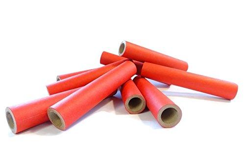 15x22x120mm Papphülse, Rot, parallel gewickelt, extrem fest, pyro paper tubes, Papierhülse, cardboard tubes, verschiedene Stückzahlen verfügbar (50)