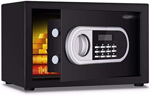 Kluisvrije veiligheid Digital Home met toetsenbord handmatige afdekking knop geschikt voor familie of op reis 35X25X25Cm meubelkluis (kleur: zwart)
