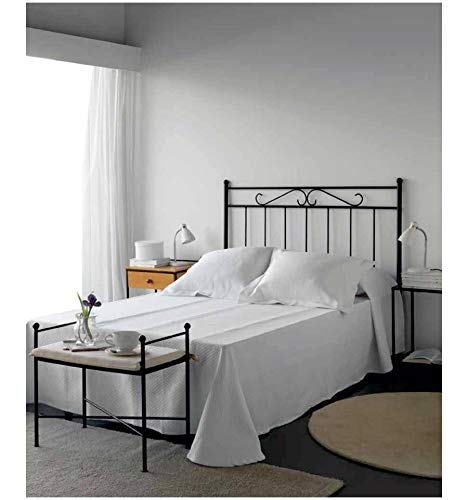 Cabecero de forja Rulo - Blanco 36, Cabecero para colchón de 160 cm