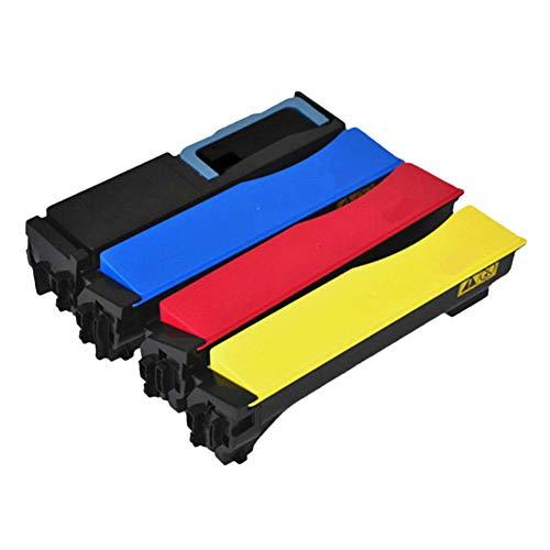 TK-573 Cartuchos De La Copiadora, para La Impresora for KYOCERA FS-C5400DN ECOSYS P7035CDN COPIADA DE Color, Cartuchos DE CÁMBRICO DE Alta Capacidad (BK C Y M) 2 Pac Black
