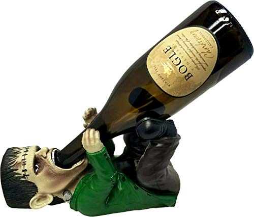 professional DWK – Franken Wine – Frankenstein Monster Gazzler Desktop Wine Display Bottle Holder Drinking Caddy Horror Classic Figure Halloween Home Decoration Halloween Decoration, 10.5 inches