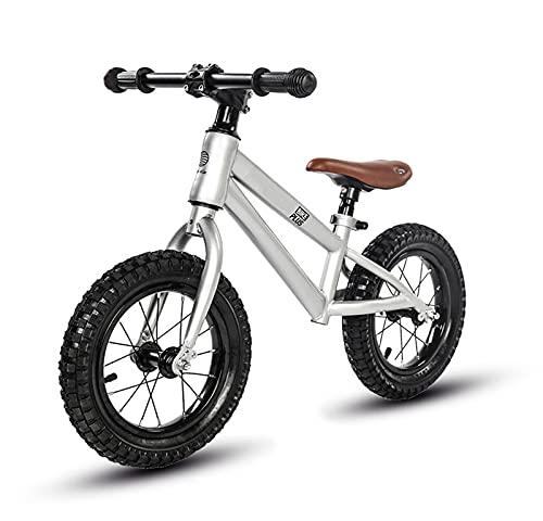 tquuquu Bicicleta De Equilibrio para Niños, Cuerpo De Acero Al Carbono Sin Pedal, Bicicleta De Dos Ruedas Competición Profesional Patinete De Patinaje para Niños Niño Y Niña Bicicleta De Esquí