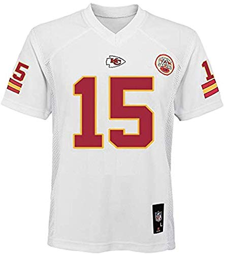 Patrick Mahomes Kansas City Chiefs NFL Youth 8-20 White Home Mid-Tier Jersey (Youth X-Large 18-20)