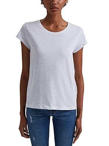 edc by Esprit 031CC1K303 T-Shirt, 100/bianco, S Donna