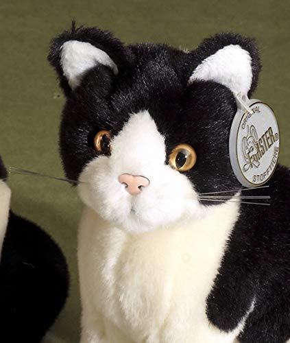 Förster Stofftier kleine Katze, sitzend, 20 cm, schwarz-altweiß #3478