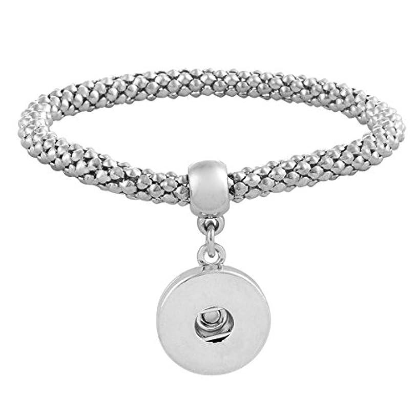 LOV*MOMENT Lovmoment Bracelet Elasticity Snap Jewelry Bangle Fit 18MM Chunks