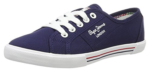 Pepe Jeans London, Zapatillas Mujer, Azul (Marine), 37 EU