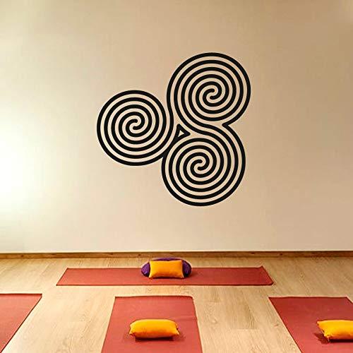 Geiqianjiumai Muurstickers nieuwe spiraal mandala muursticker decoratie slaapkamer gemakkelijk over te dragen yoga praktijk sticker ontwerp