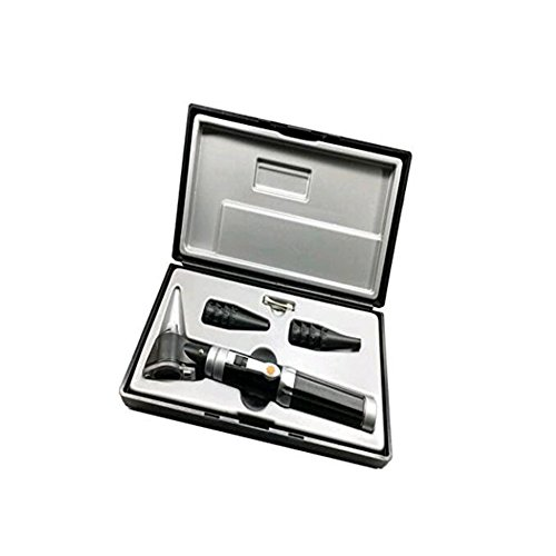 XCXC JIN Bright LED Otoscope Kit for Examining Reuseable Specula Magnifying (3X) for Children, Adults, Pets, Etc.