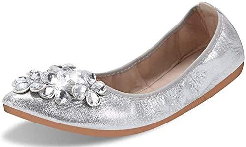 Piatto Scarpe Donna Eleganti Slip-on Ballerine Punta Chiusa Tacco Basso Sandali Slip On Mocassini Comode Scarpe per Bambine e Ragazze